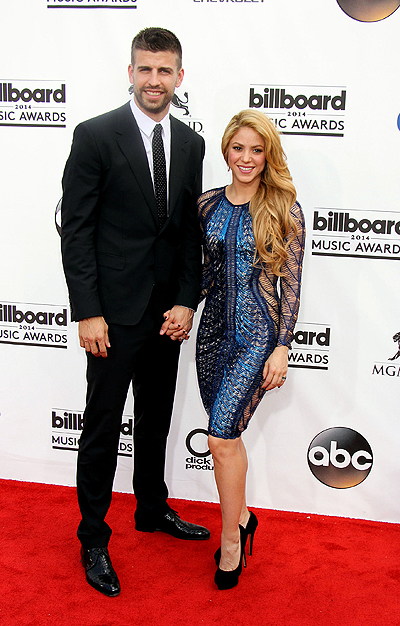 2014 Billboard Awards held at the MGM Grand Resort Hotel and Casino - Arrivals Featuring: Shakira,Gerard Pique Where: Las Vegas, Nevada, United States When: 18 May 2014 Credit: DJDM/WENN.com