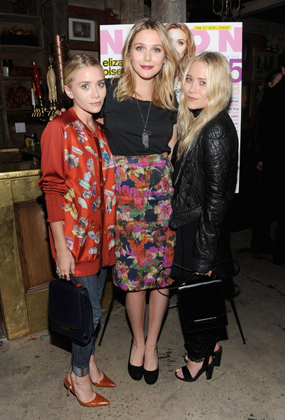 <> the NYLON & AX Armani Exchange Private Dinner for the October issue with cover star Lizzie Olsen on October 5, 2011 in New York City.
